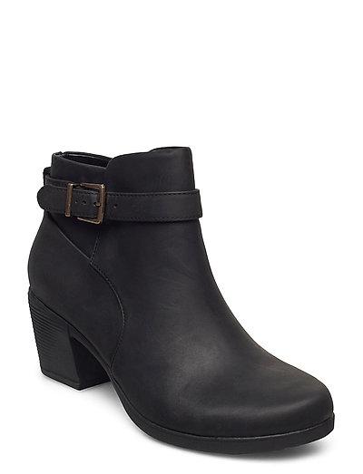 Un Lindel Lo Shoes Boots Ankle Boots Ankle Boot - Heel Schwarz CLARKS