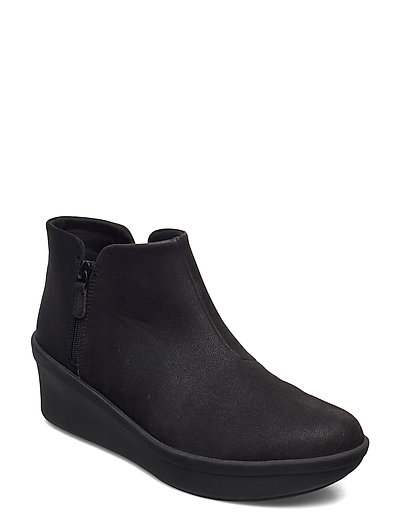 Step Rose Up Shoes Boots Ankle Boots Ankle Boot - Flat Schwarz CLARKS
