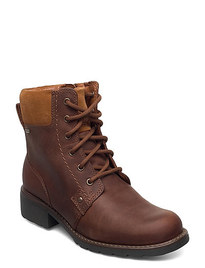 Orinoco Up Gtx Shoes Boots Ankle Boots Ankle Boot - Flat Braun CLARKS