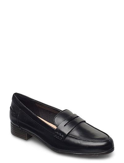 Hamble Loafer Loafers Flache Schuhe Schwarz CLARKS