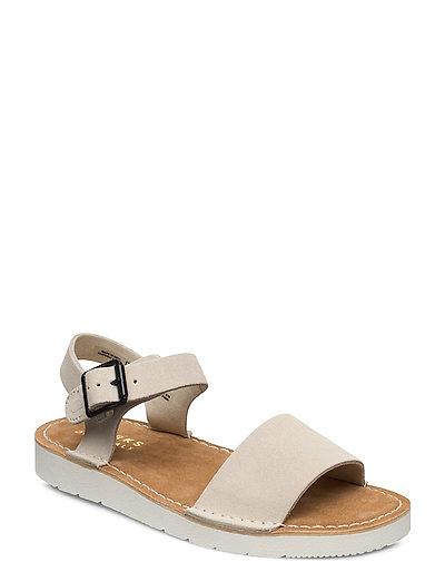 Lunan Strap. Shoes Summer Shoes Flat Sandals Beige CLARKS