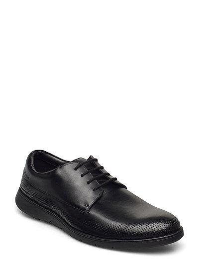 Helston Walk Shoes Business Laced Shoes Schwarz CLARKS
