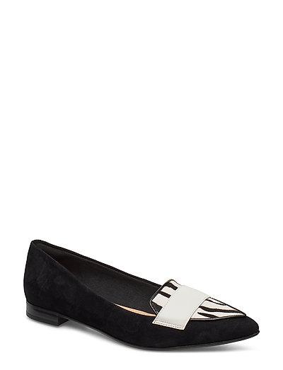 Laina15 Loafer Loafers Flache Schuhe Schwarz CLARKS