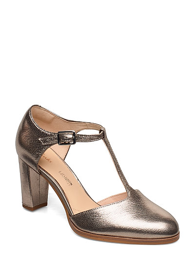 Kaylin85 Tbar Shoes Heels Pumps Classic Gold CLARKS