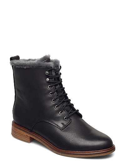 Clarkdale Lace Shoes Boots Ankle Boots Ankle Boot - Flat Schwarz CLARKS