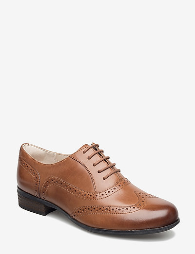 Hamble Oak - platta skor - dark tan lea