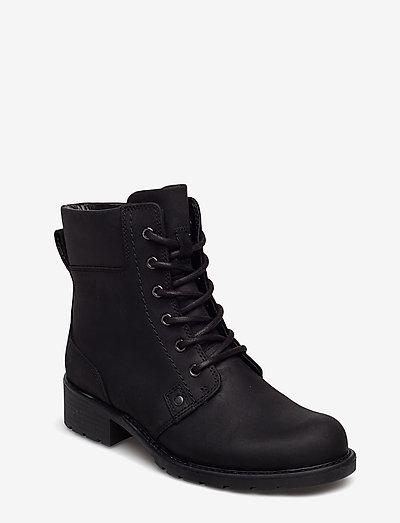 Orinoco Spice - platta ankelboots - black leather