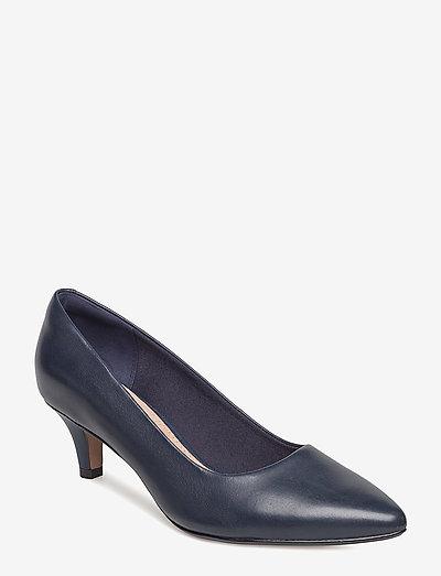Linvale Jerica - klassiska pumps - navy leather