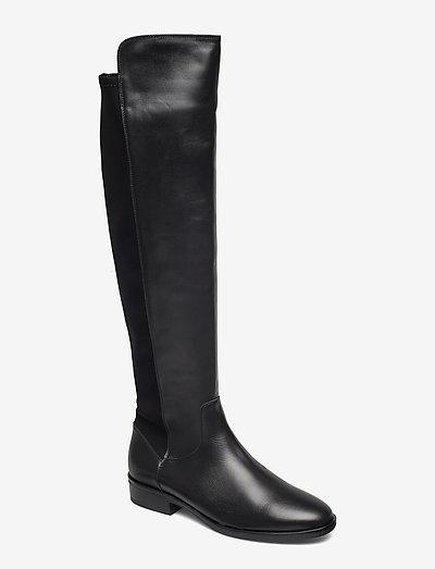 Pure Caddy - höga stövlar - black leather