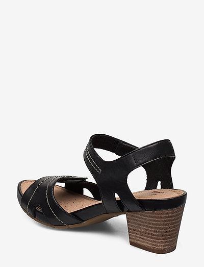 Clarks Un Palma Vibe- Absatzschuhe Black Leather