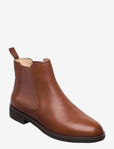 Griffin Plaza - chelsea boots - dark tan lea