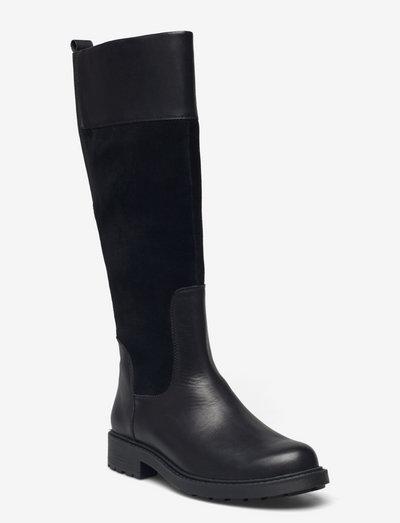 Orinoco2 Hi - höga stövlar - black wlined lea