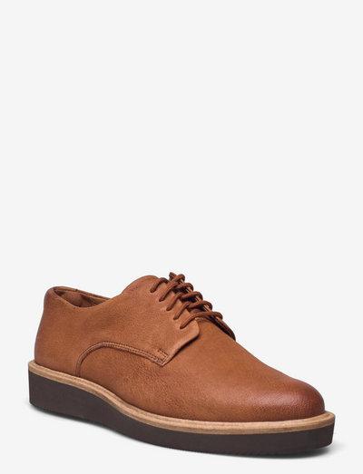 Baille Stitch - snörskor - dark tan leather