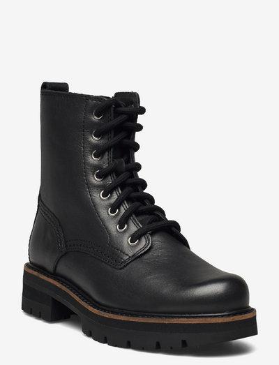 Orianna Hi - platta ankelboots - metallic leather