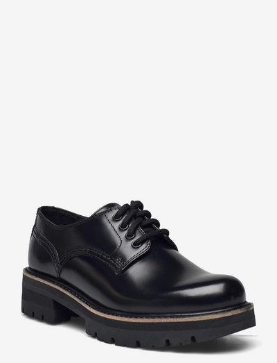 Orianna Derby - snörskor - black hishine leather