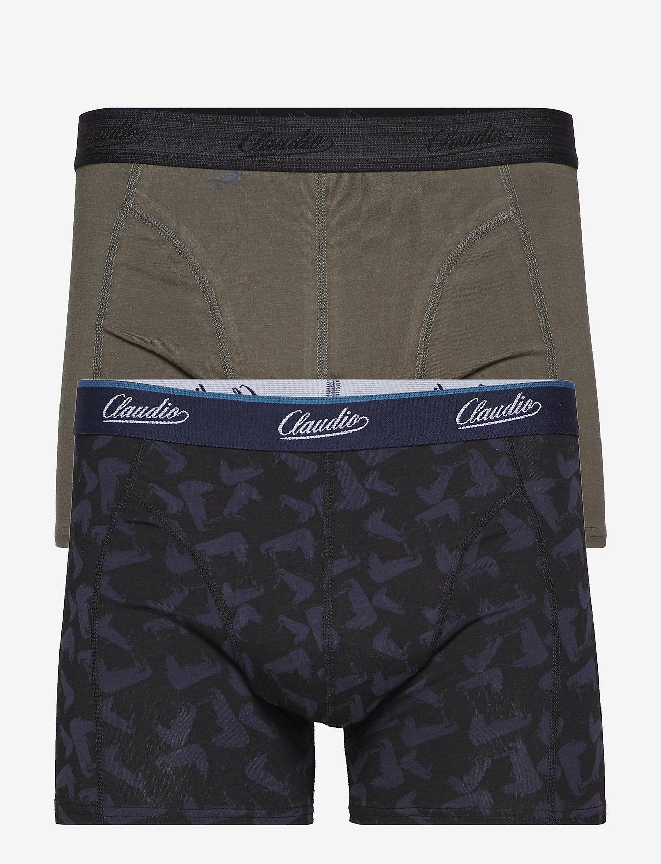 Claudio - Claudio trunk 2-pack - boxershortser - grey+aop - 0