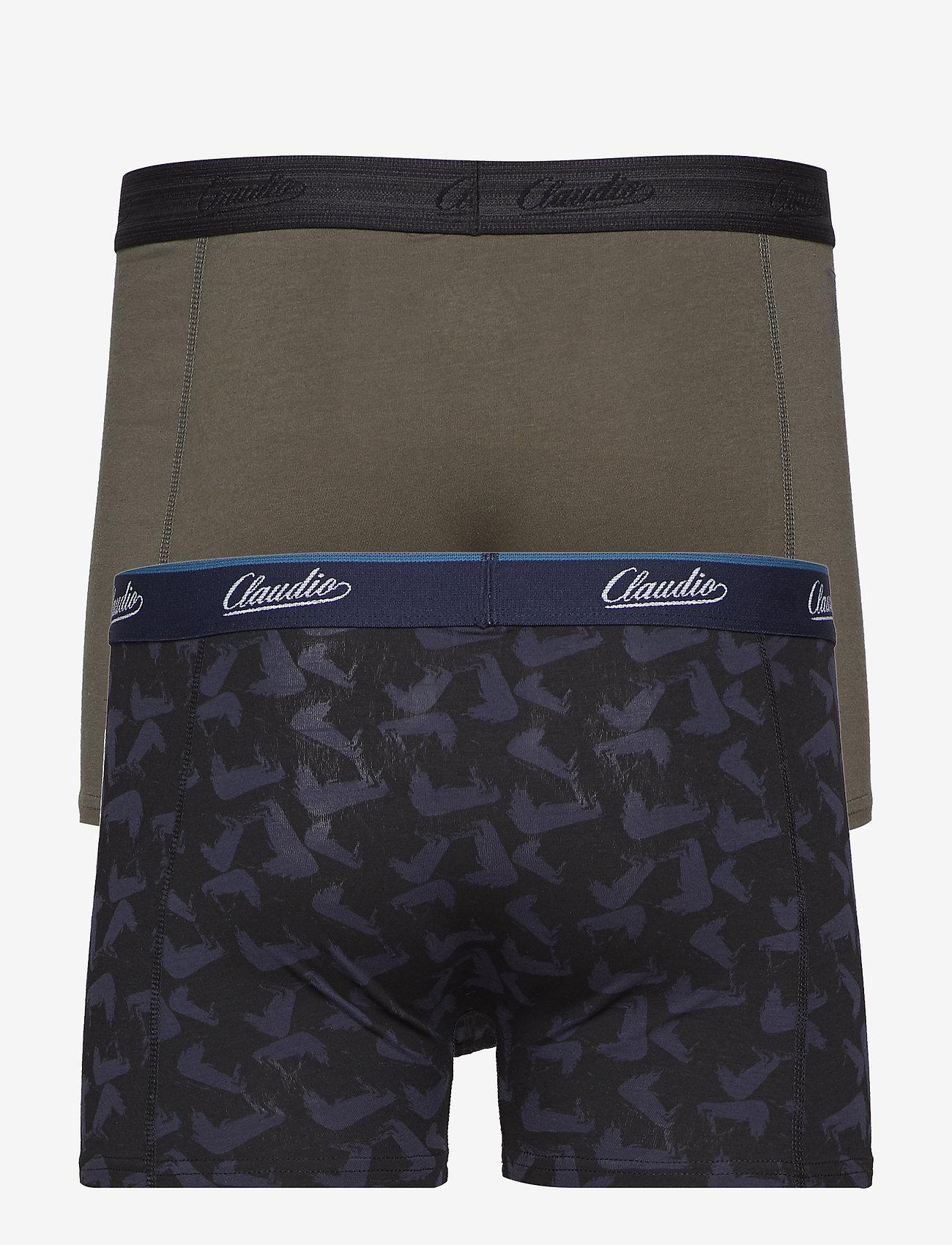 Claudio - Claudio trunk 2-pack - boxershortser - grey+aop - 1