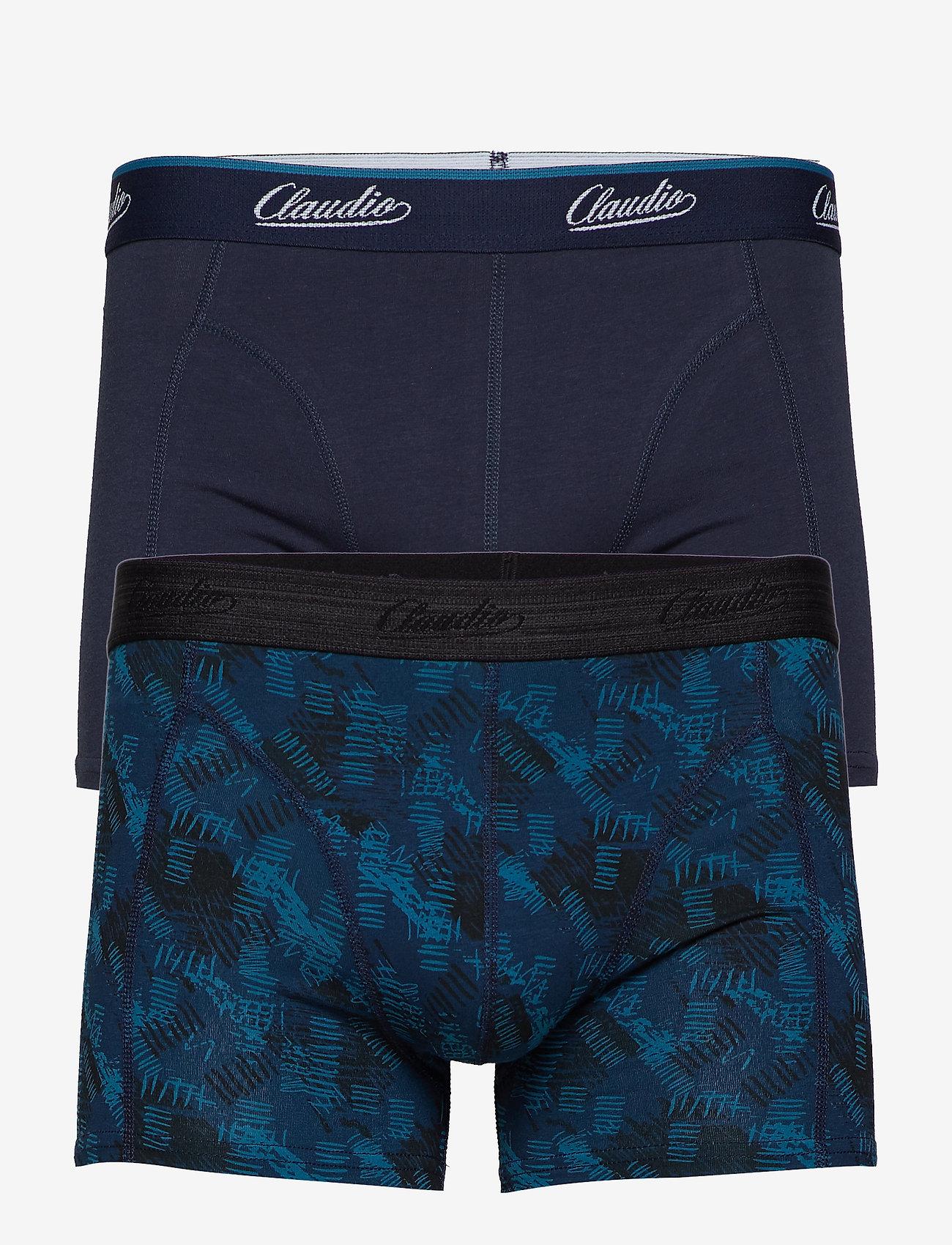 Claudio - Claudio trunk 2-pack - boxershortser - navy+aop - 0