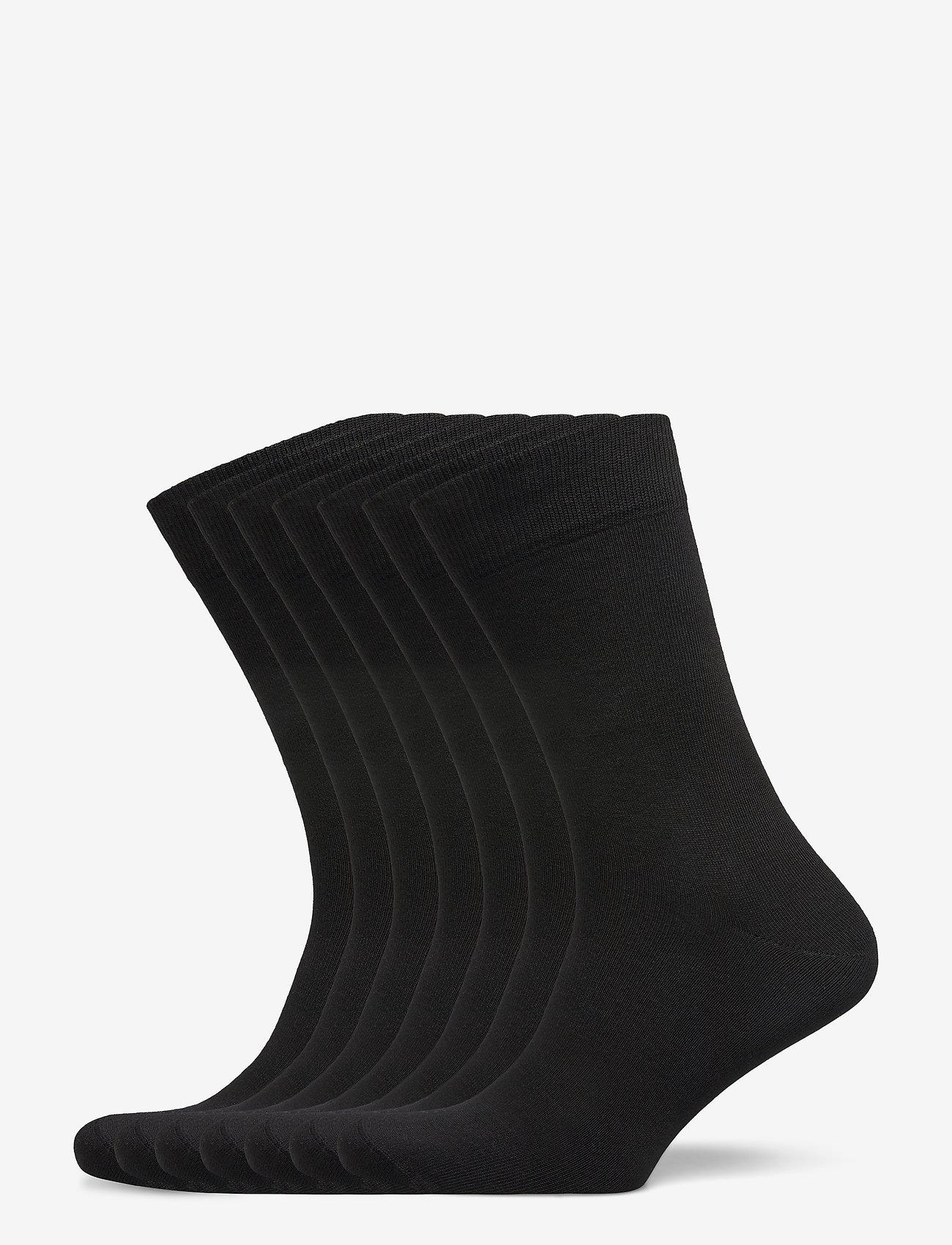 Claudio - Claudio socks 7-pack - chaussettes régulières - svart - 0