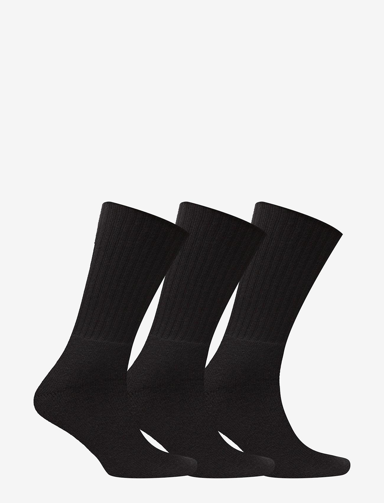 Claudio - Terry Socks 3 pack - vanlige sokker - black - 1