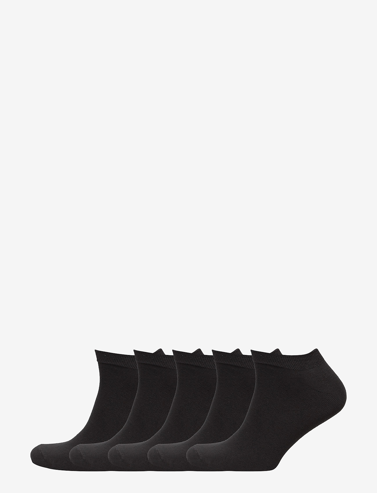 Claudio - Mens 5 pack sneaker socks - ankelsokker - black - 0