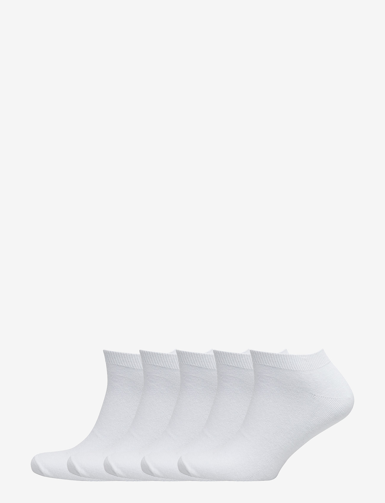 Claudio - Mens 5 pack sneaker socks - ankelsokker - white - 0