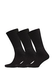 Terry Socks 3 pack - BLACK