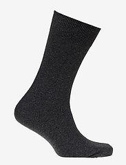 Claudio - Mens Classic Sock - vanlige sokker - black melange - 1
