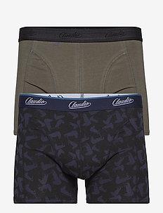 Claudio trunk 2-pack - boxershortser - grey+aop