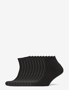 Claudio socks sneakers 10-pack - skarpety za kostkę - svart