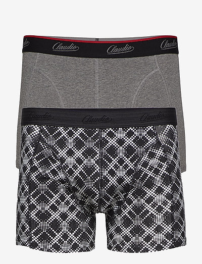 Claudio trunk 2-pack - boxers - grey+aop