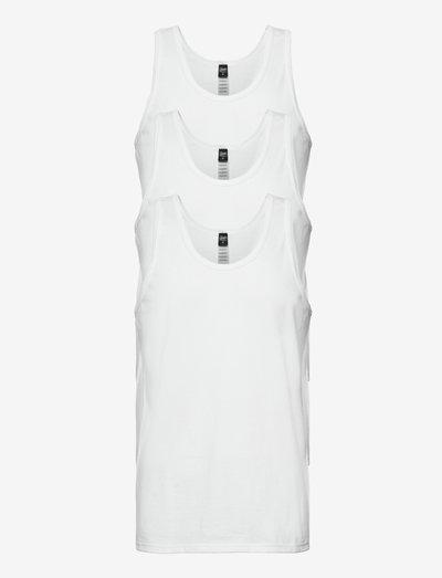 Claudio Singlet 3-pack, organi - t-shirts basiques - white
