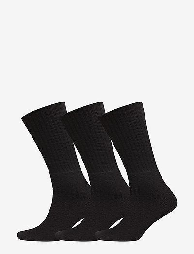 Terry Socks 3 pack - chaussettes régulières - black