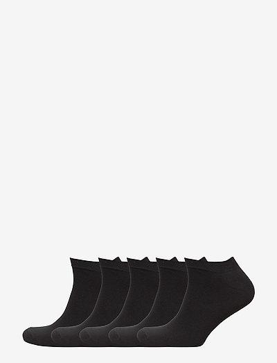 Mens 5 pack sneaker socks - chaussette de cheville - black