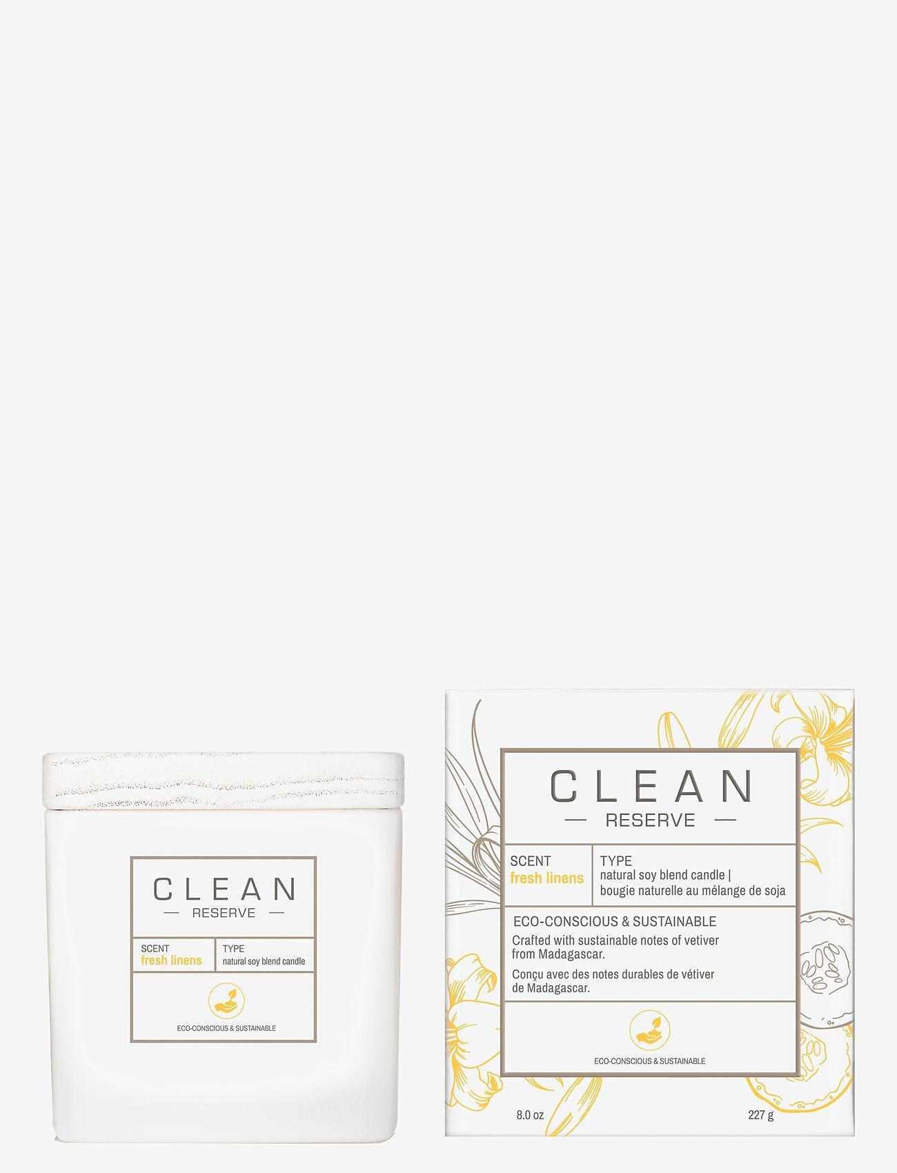 CLEAN - Fresh Linens Candle 227 g - dufte - clear - 0