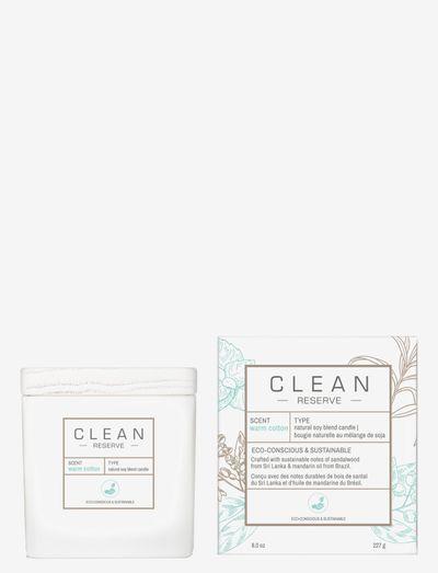 Warm Cotton Candle 227 g - dufte - clear