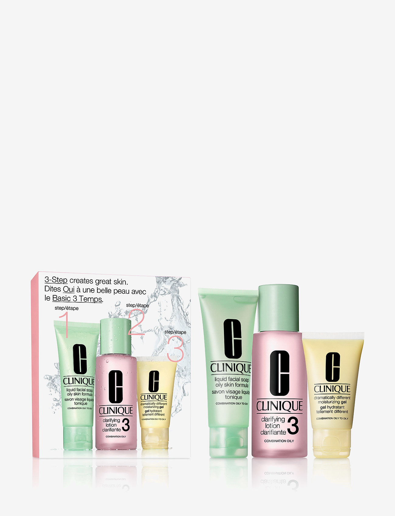 Clinique - 3-Step Skin Care Intro Set, Skin Type 3 - ihonhoitosetit - clear - 0