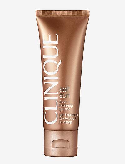 Face Bronzing Gel Tint - brun utan sol - clear