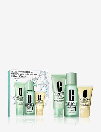 3-Step Skin Care Intro Set, Skin Type 1 - ihonhoitosetit - clear
