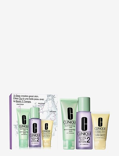 3-Step Skin Care Intro Set, Skin Type 2 - hudplejesæt - clear