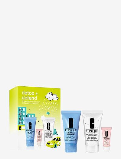 DETOX + DEFEND - hudpleiesett - clear