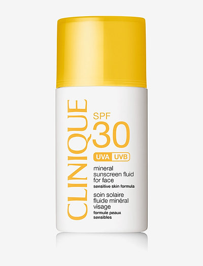 SPF 30 Mineral Sunscreen For Face - ansigt - clear