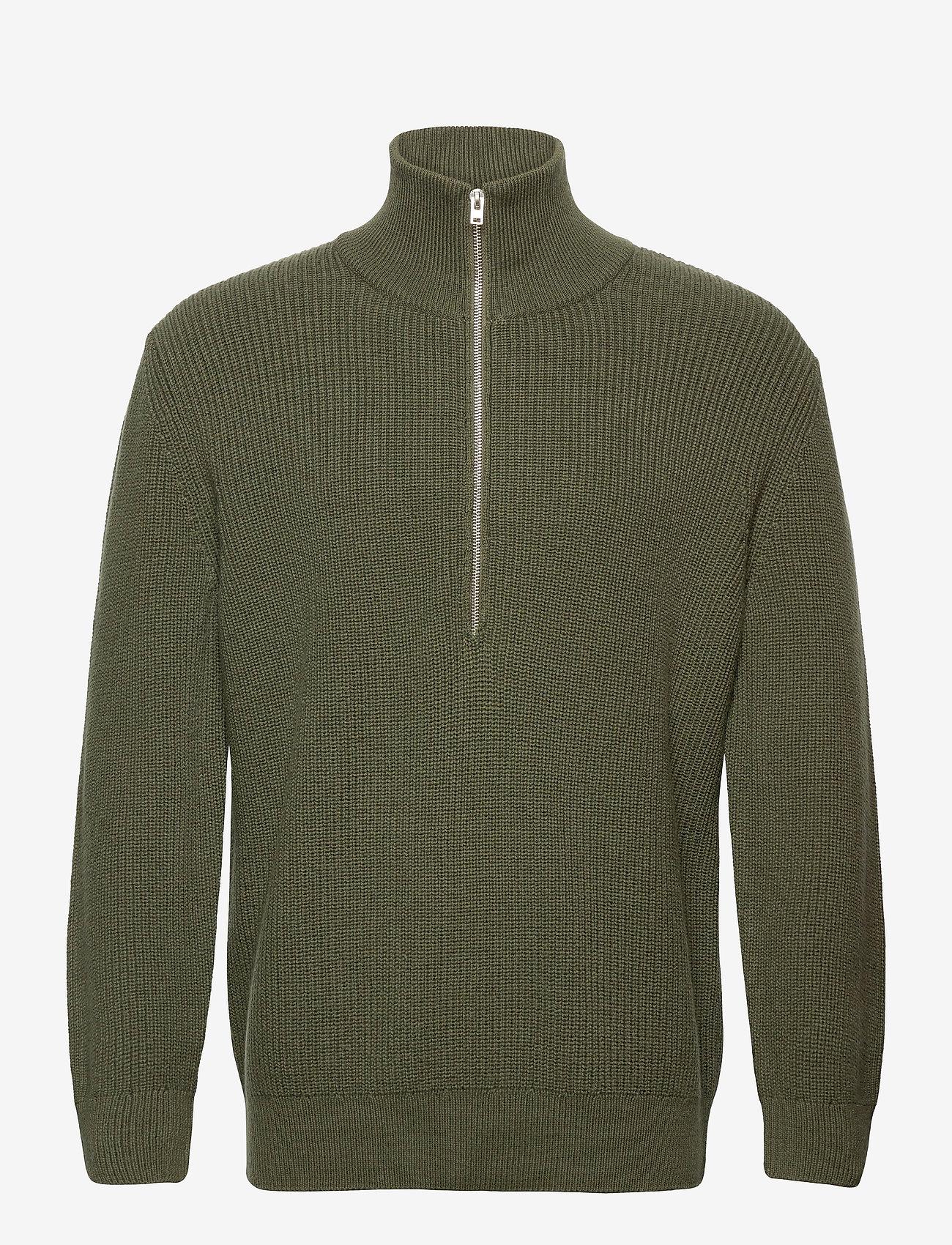 Closed - zipped jumper - half zip - laurel green - 0