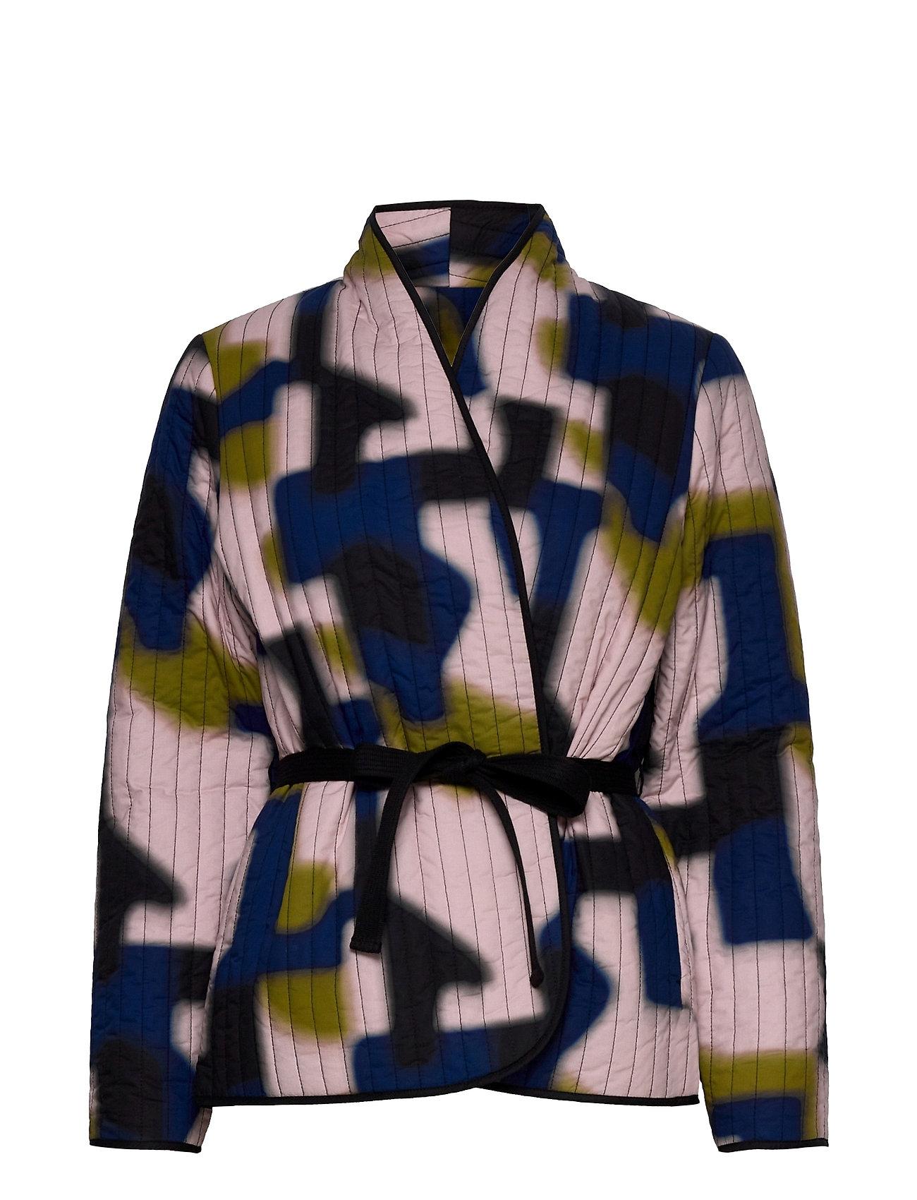 Womens Blouse Quiltet Jakke Multi/mønstret Closed
