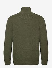 Closed - zipped jumper - half zip - laurel green - 1
