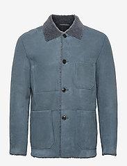 Closed - mens jacket - manteaux legères - blue slate - 0