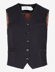 Closed - womens jacket - knitted vests - dark night - 0