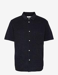 mens shirt - oxford-paidat - dark night