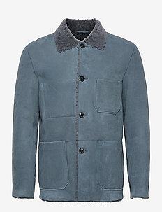 mens jacket - manteaux legères - blue slate