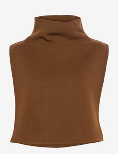 womens accessories - ermeløse topper - tawny brown